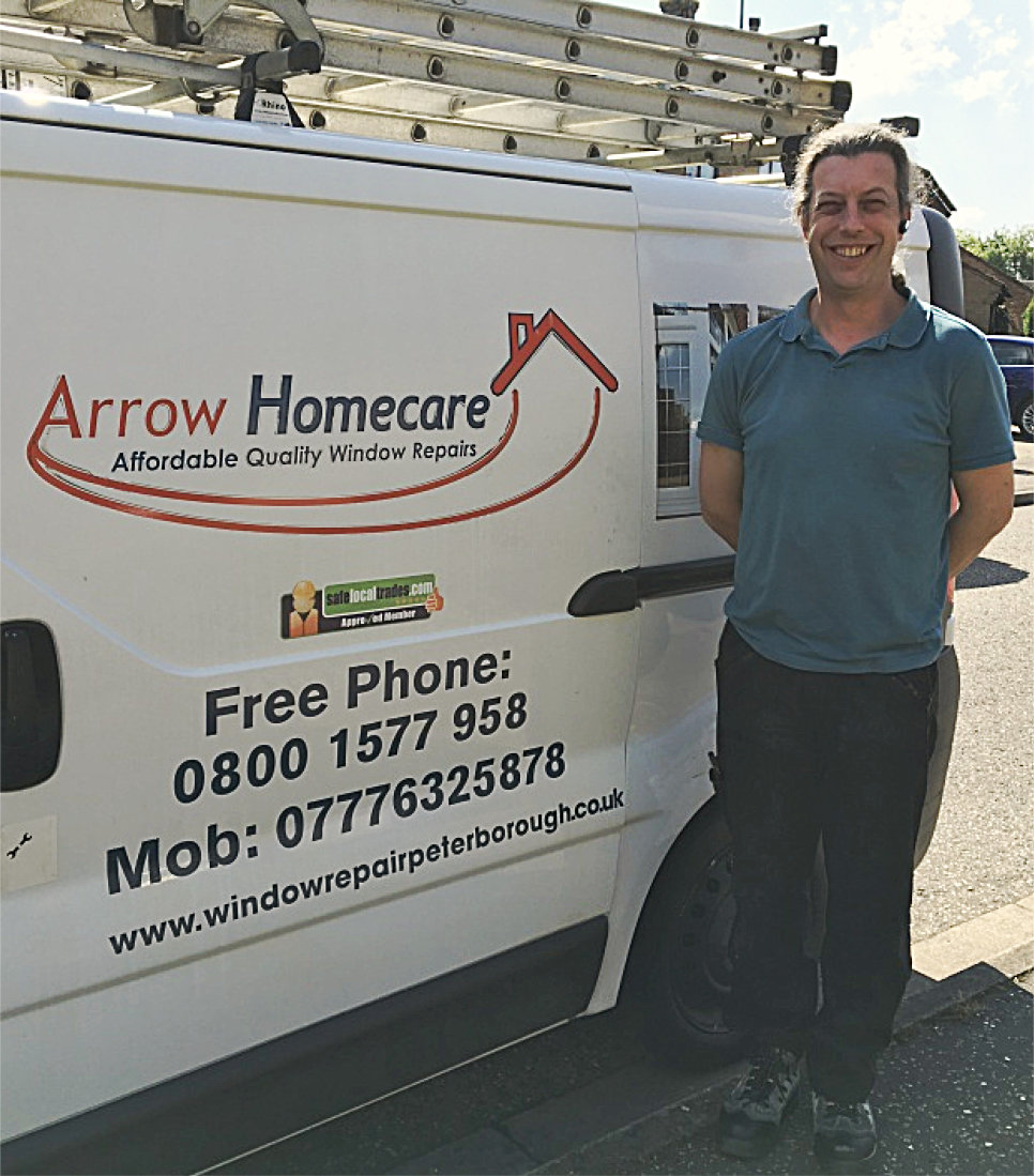 Chris Wright and Arrow Homecare Van